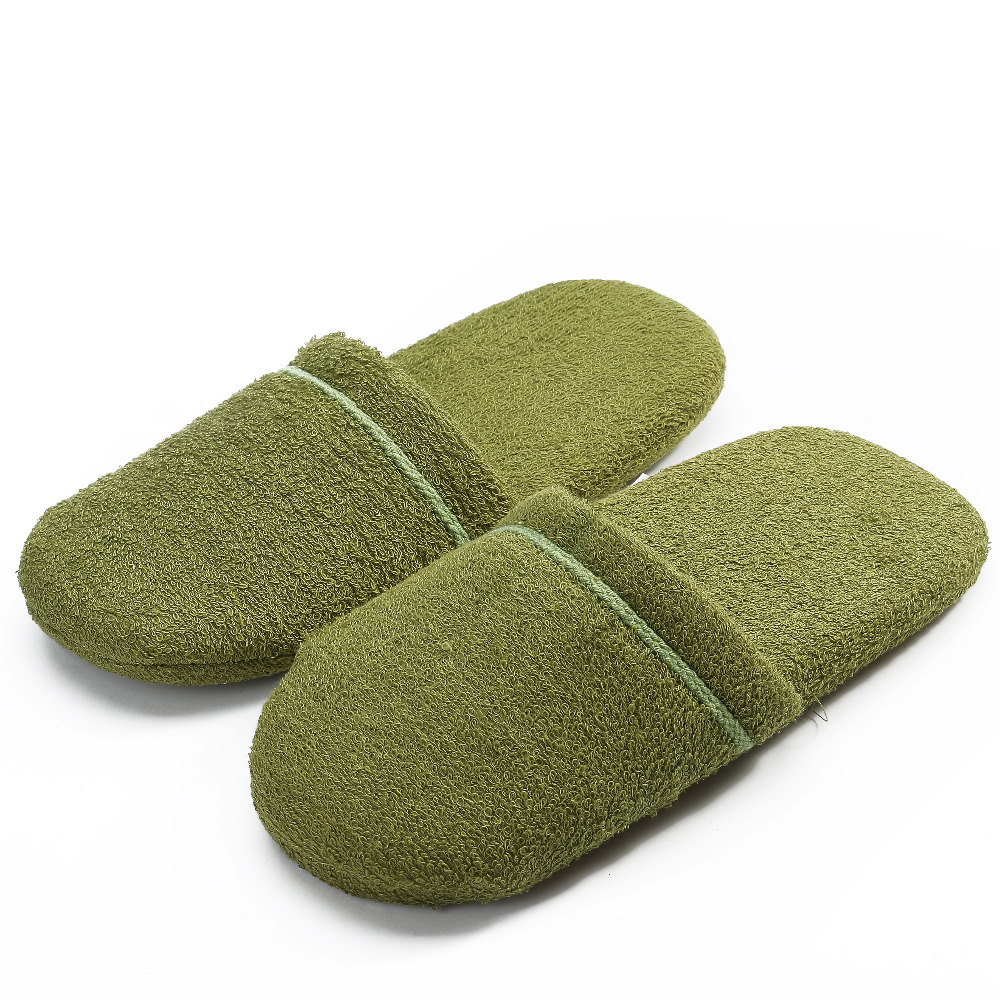 China powerful factory fancy terry cloth women slides slippers