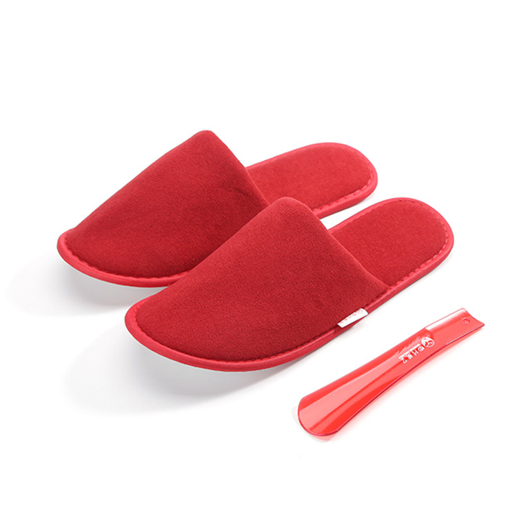 Velvet insole customizable airplane slippers for adults